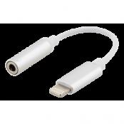 Epzi Lightning till 3,5 mm adapter, aluminium skal, silver