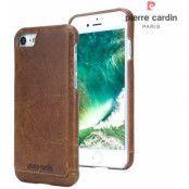 Pierre Cardin Leather Case (iPhone SE2/8/7) - Brun