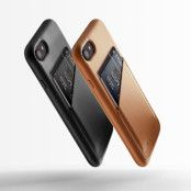 Mujjo Full Leather Wallet Case (iPhone 8/7) - Brun