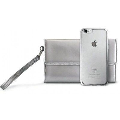 Puro Pochette & Satin Cover (iPhone 8/7) - Silver