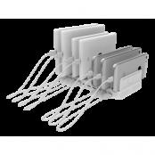 Deltaco USB Laddningsstation 10xUSB-A, 19.2A 96W - Vit