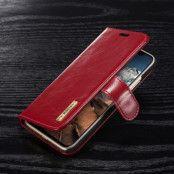DG.MING Detachable Plånboksfodral till iPhone XS / X - Röd