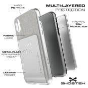 Ghostek Pro Wallet Card Skal till Apple iPhone XS / X - Röd