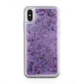 Glitter skal till Apple iPhone X - Floral dream