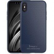 iPaky Carbon Fibre Texture (iPhone X/Xs) - Grå