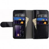 Melkco Plånboksfodral med extra kortplatser iPhone X - Svart