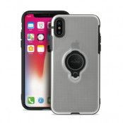 Puro Magnet Ring Cover iPhone X - Transparent