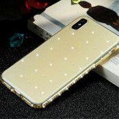 Sulada Rhinestone TPU (iPhone X/Xs) - Gul