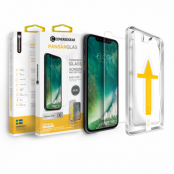 CoveredGear härdat glas till iPhone 11/XR transparent med monteringsram