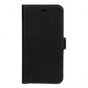 Essentials Läder wallet till iPhone XR - Svart