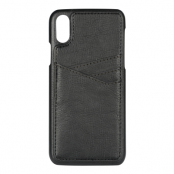 Essentials PU Triple Card Cover till iPhone XR - Svart