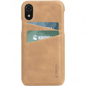 Krusell Sunne 2 Card Cover (iPhone Xr) - Brun