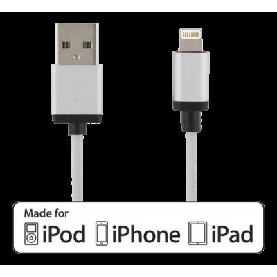 Deltaco Lightning laddare iPhone snabbladdare 2,4A, vinklad