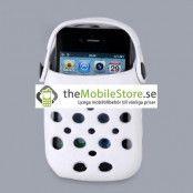 Foam Rubber Slipper hållare till iPhone 4G (Vit)