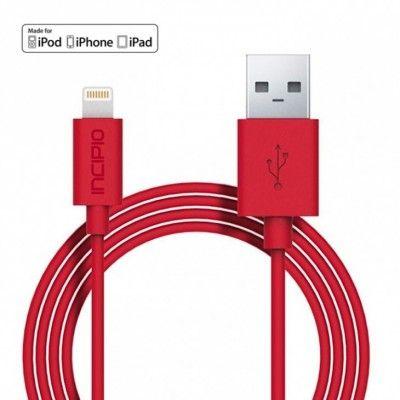 Incipio MFI Ladd & Synk Lightning kabel - 1m - Röd