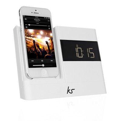 KITSOUND Xdoc2 Klockradio iPhone Lightning Vit