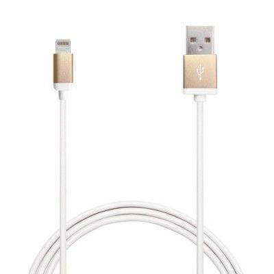 Puro Apple MFI lightning kabel 1m - Guld/Vit