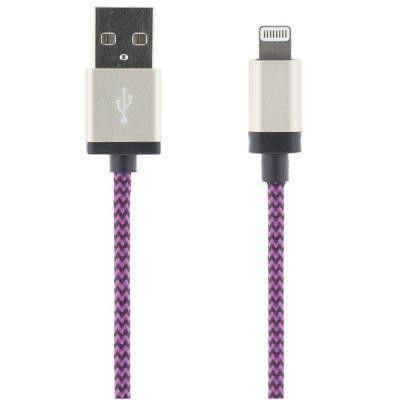 STREETZ USB-synk-/laddarkabel, MFi, Lightning, 2m, lila