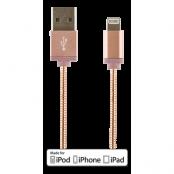 STREETZ lightning kabel till iPad, iPhone och iPod, MFi- Rosé