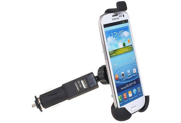 Universal Smartphone bilhållare med laddare.