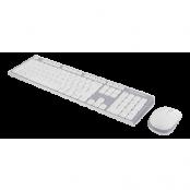 DELTACO trådlöst tangentbord och mus, vit/grå