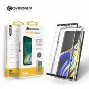 CoveredGear Easy App Härdat glas skärmskydd till Samsung Galaxy S9 - Svart