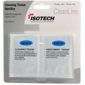 Isotech CleanLine Cleaning Tissues Wet/Dry