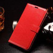Crazy Horse Plånboksfodral till LG G4 Stylus - Röd