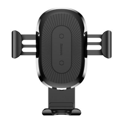Baseus Wireless Qi Charger Car Mount (iPhone) Svart