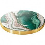 iDeal Of Sweden Marmor Qi Charger - Vit/guld